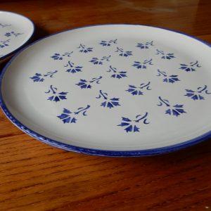 Assiettes bleuet bleu faïencerie Ponchon