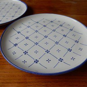 Assiettes de la faïencerie Ponchon M48 bleu