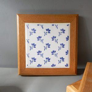 Dessous de plat faïence Ponchon motif bleuet